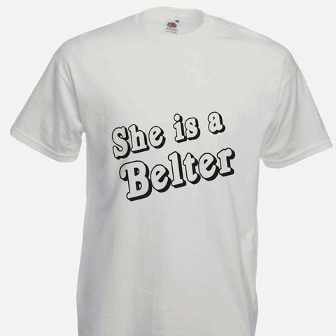 Gerry Cinnamon Inspired T-shirt - She is a Belter