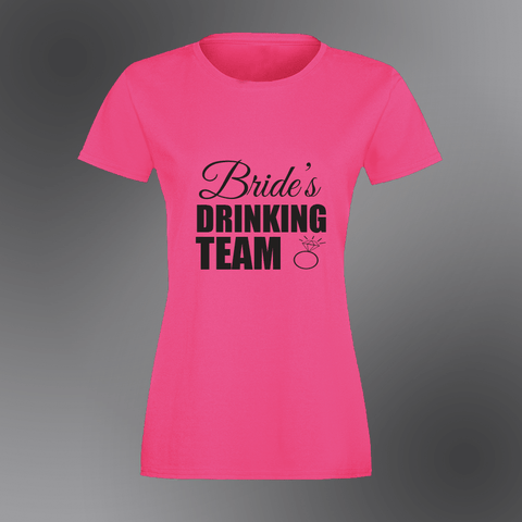 Brides Drinking Team Hen T-shirt - Womens T-Shirt