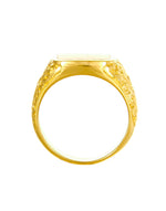 LOUIS Ring roter Achat gold