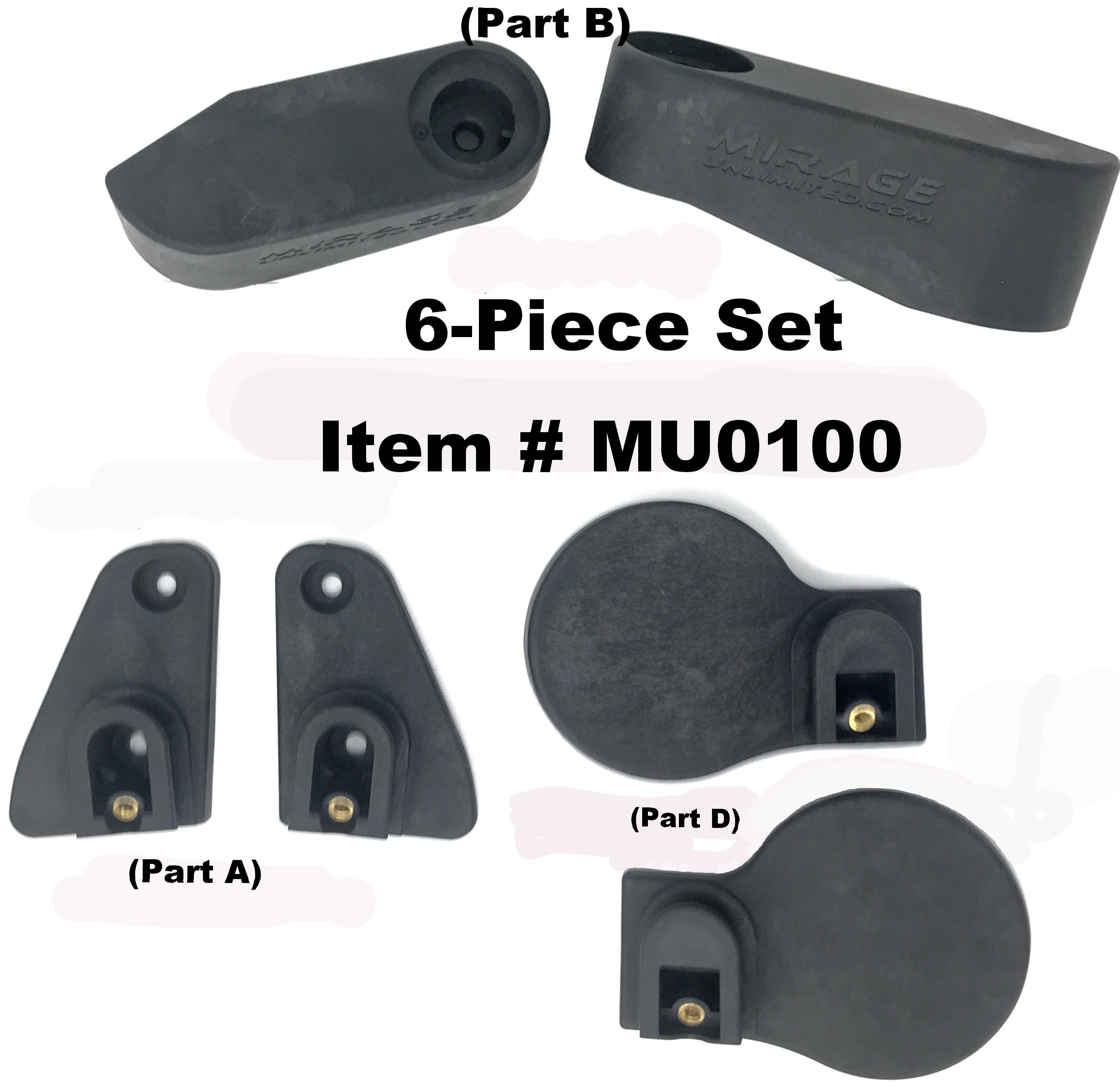 Jeep Mirror Mount Assembly Wrangler Accessories Mirage Head Kit Quick Disconnect
