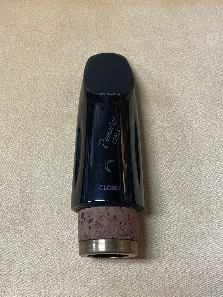 "Pomarico ""Closed"" Black Crystal Bb Clarinet Mouthpiece RR"