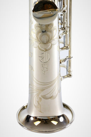 RW Pro Series One Piece Soprano Saxophone - Double Silver Plated