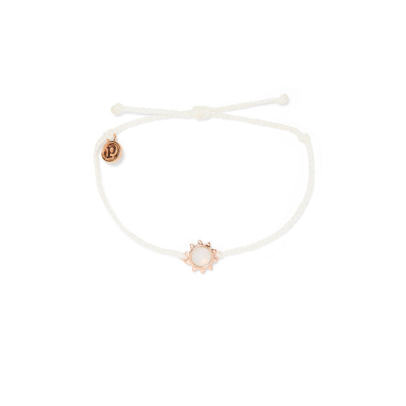 Sunkissed White Bracelet with Rose Gold