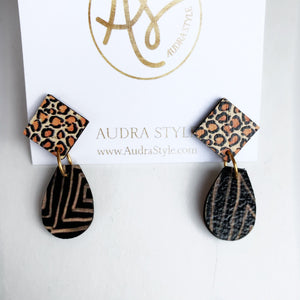 The Claire Earrings in Leopard Black
