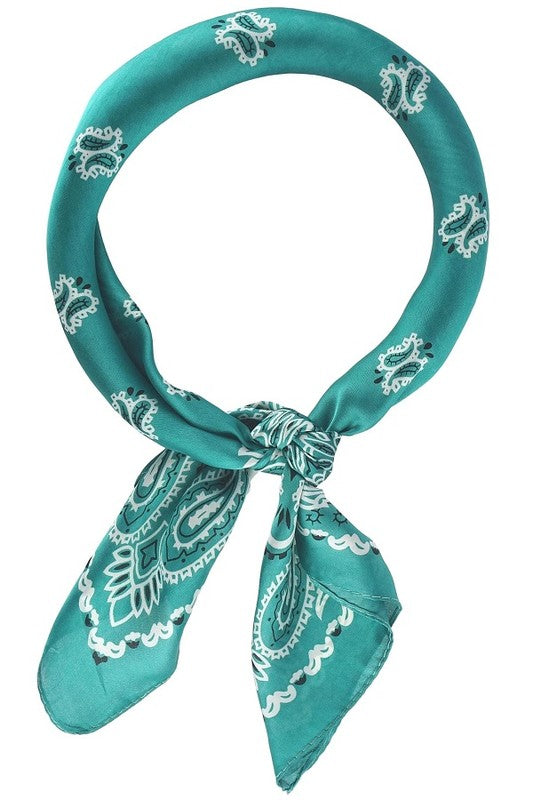 The Paisley Neckercheif in Teal