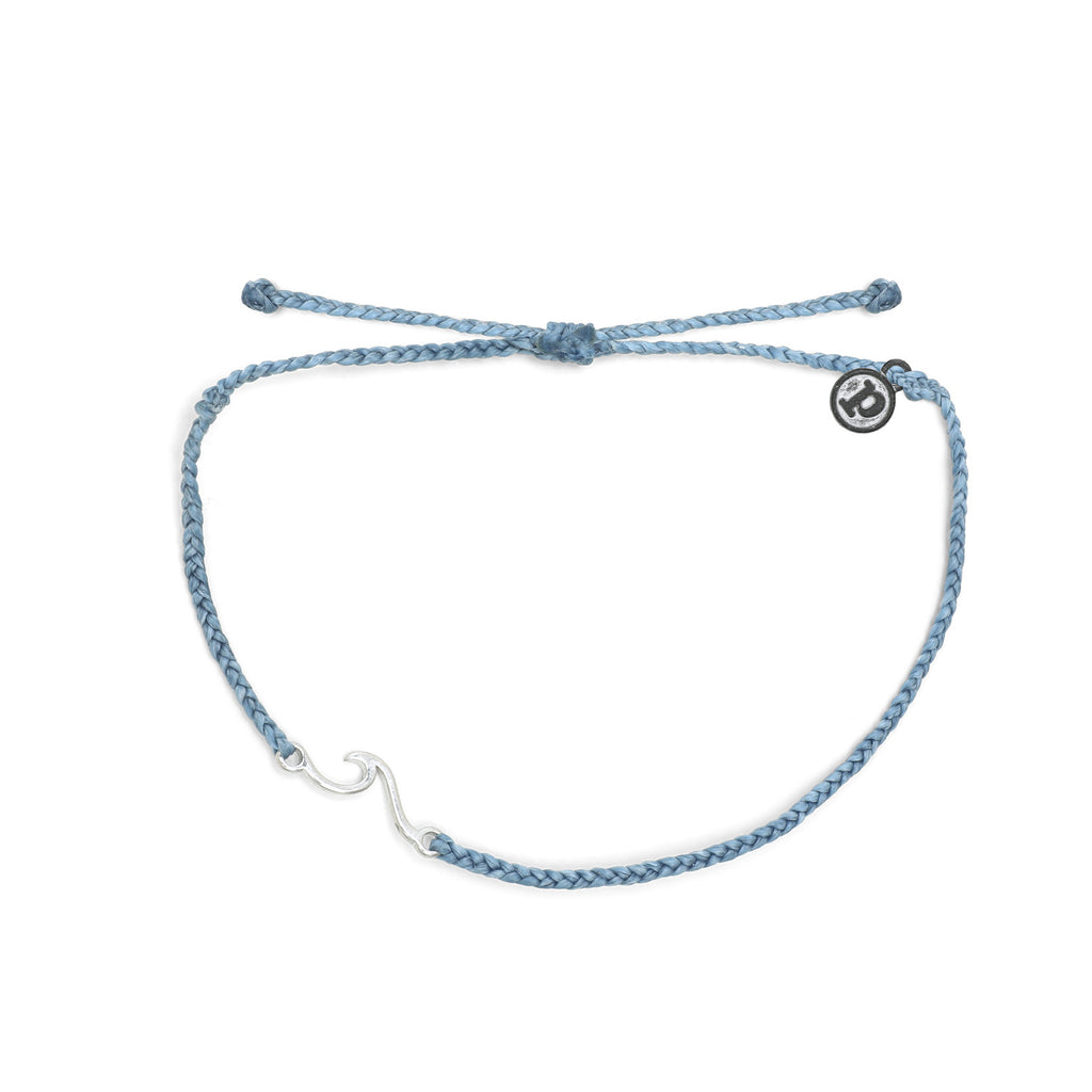 Shoreline Anklet in Sky Blue and Silver