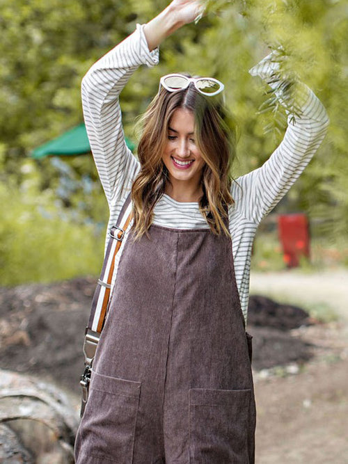 Coffee Cords Overalls