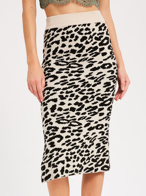 Leopard Sweetheart Sweater Skirt