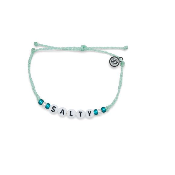 Salty Alphabet Bead Bracelet in Winter