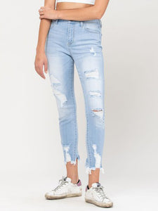 Jessa Light Denim Distressed Jeans