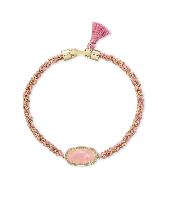 Elaina Braided Bracelet- Breast Cancer Awareness