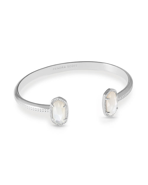 Elton Rhodium Bracelet in Ivory Mother of Pearl