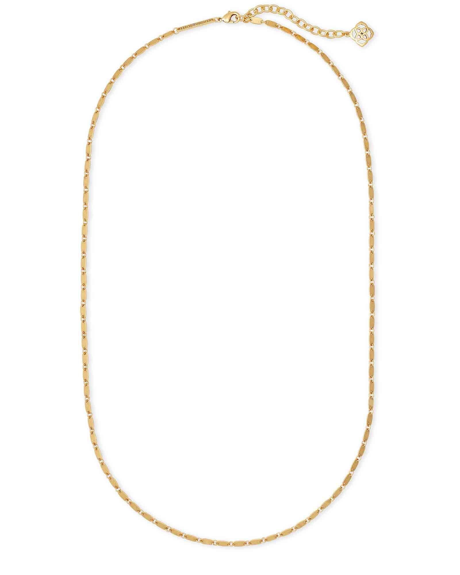 Lola Chain Necklace in Vintage Gold
