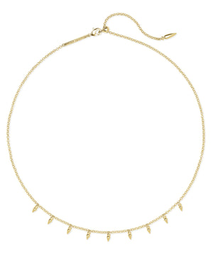 Addison Choker Necklace in Gold Metal