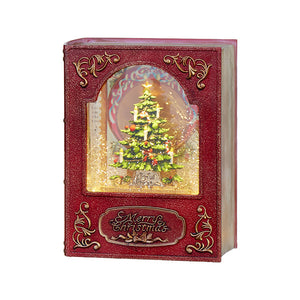 "8"" Christmas Tree Lighted Water Book"
