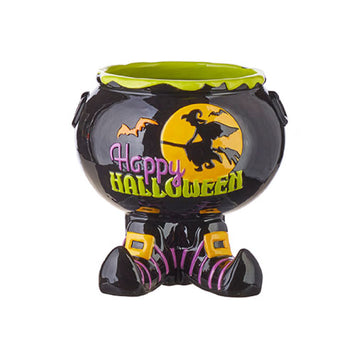 Happy Halloween Footed Candy Bowl