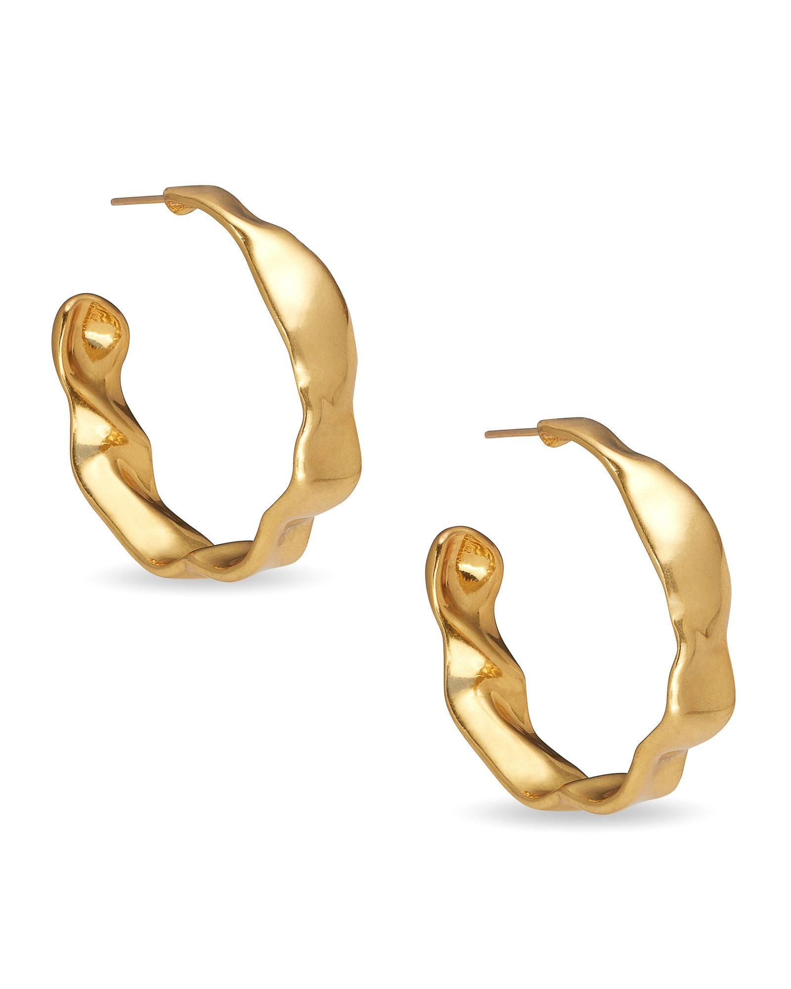 Holland Hoop Earring in Vintage Gold