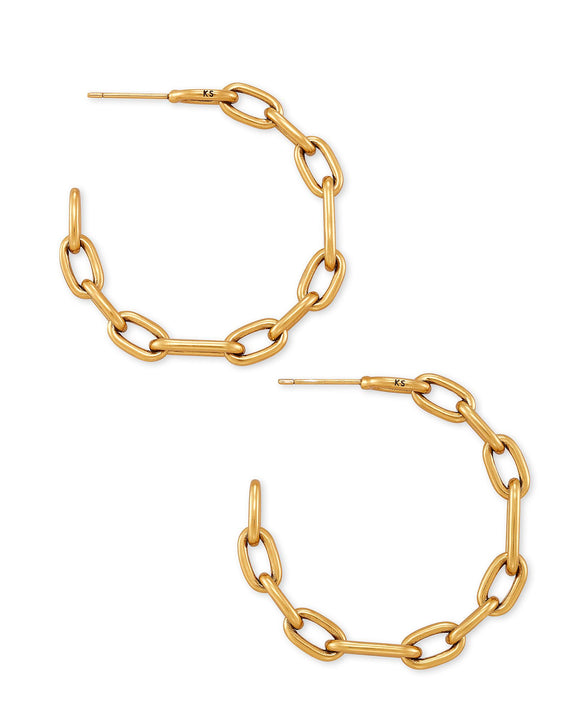 Ryder Hoop Earring in Vintage Gold