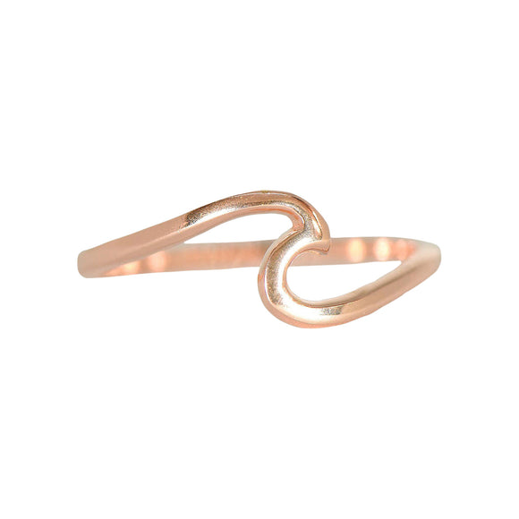 Wave Ring in Rose Gold