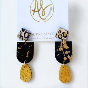 The Leah Earrings in Black