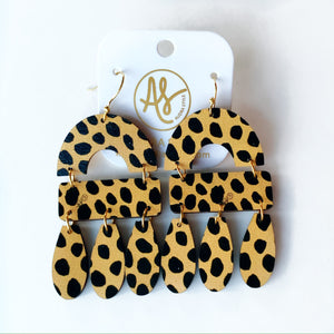 The Elizabeth Earrings in Cheetah Dot