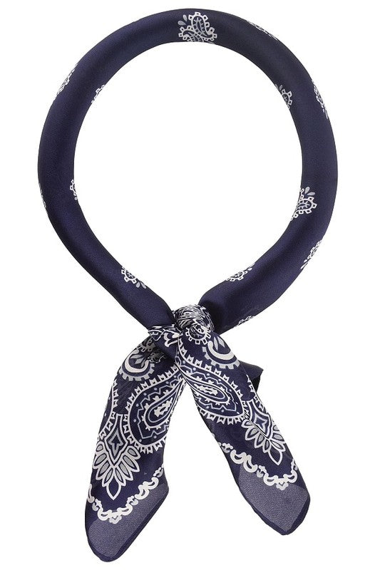 The Paisley Neckercheif in Navy
