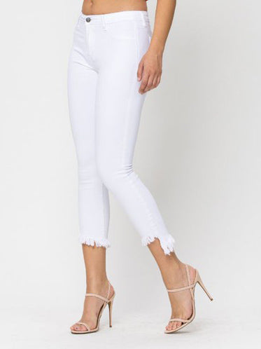 Ivy White Cropped Jeans