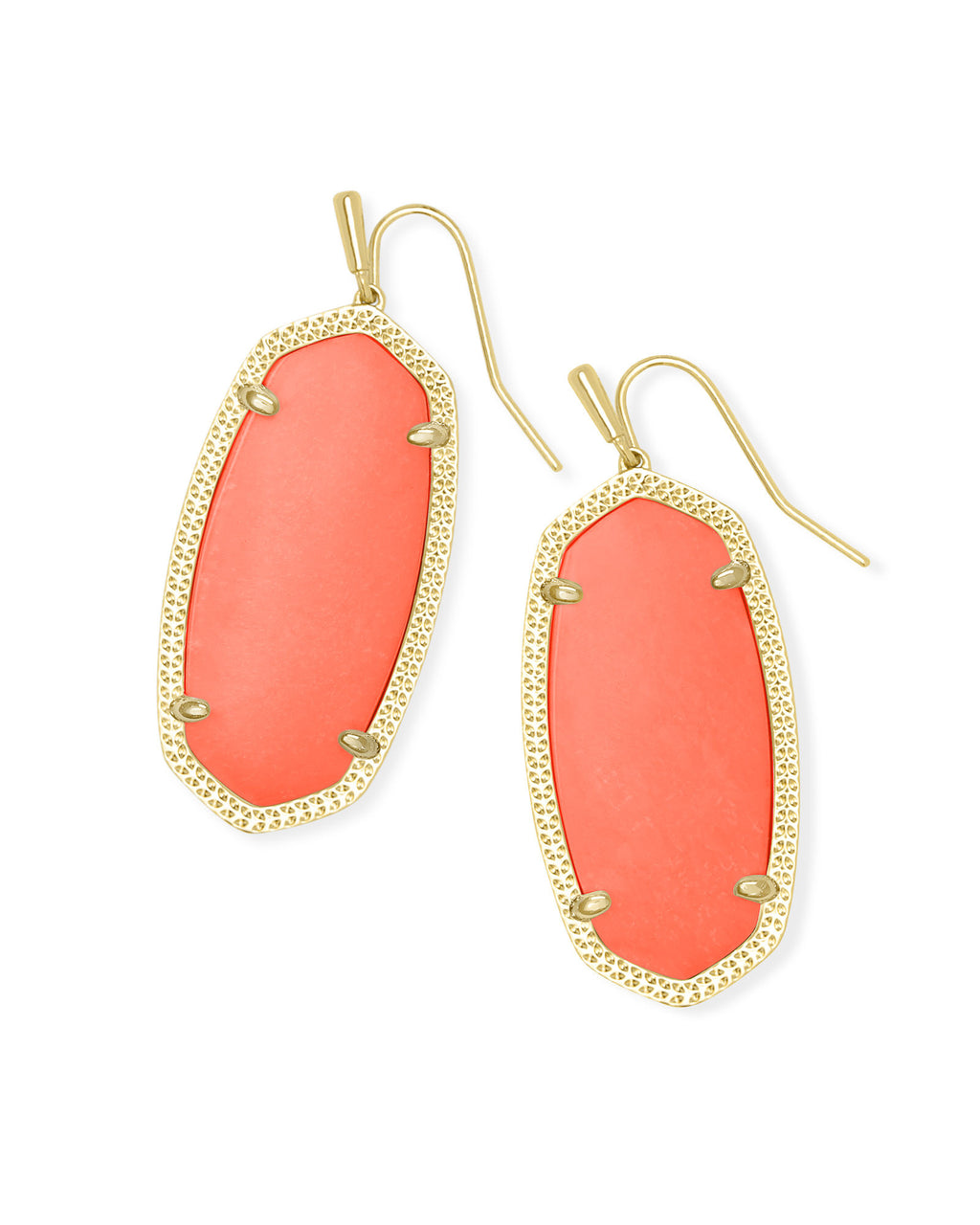 Elle Earring in Gold Bright Coral