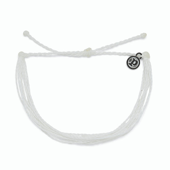 Bright Solid White Bracelet
