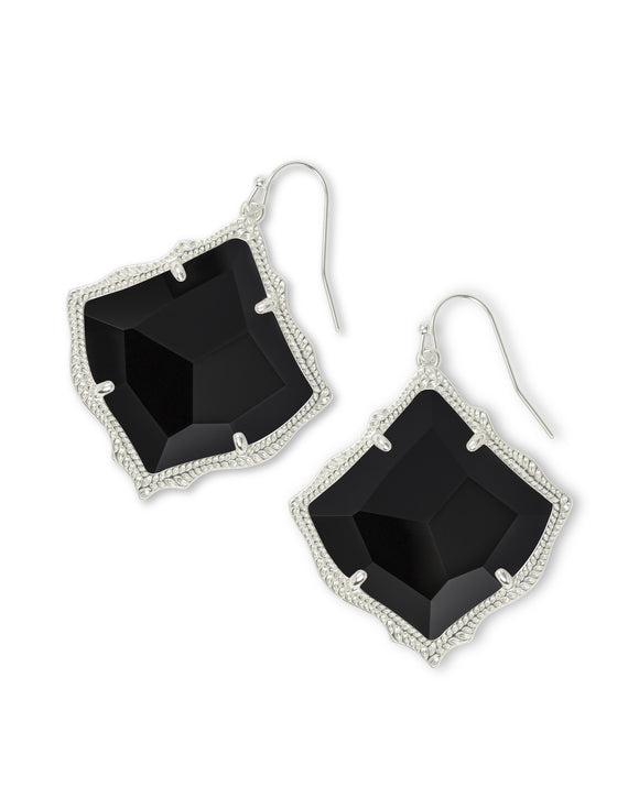 Kirsten Drop Earrings In Rhodium