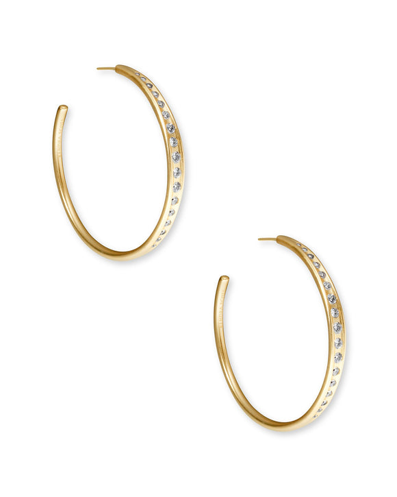 Selena Hoop Earring in Vintage Gold