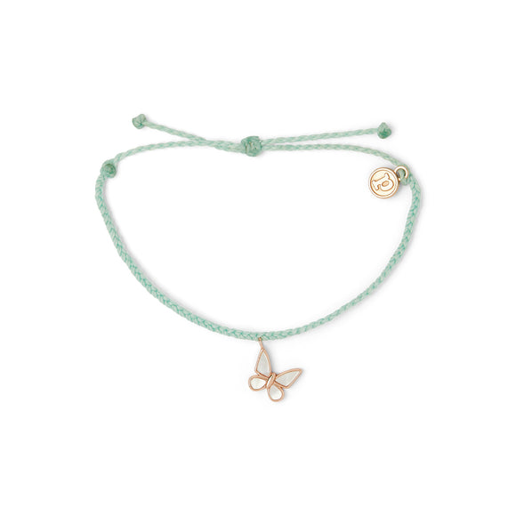 Butterfly Bracelet in Seafoam and Rose Gold