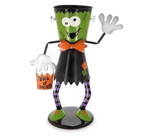 Frankenstein Bucket Head Candy Holder