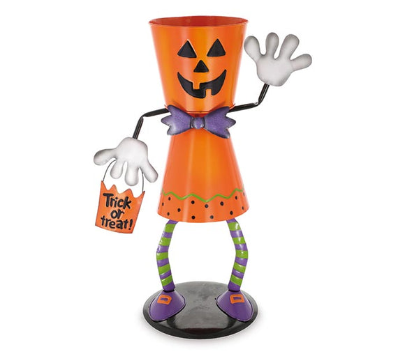 Jack-O-Lantern Bucket Head Candy Holder