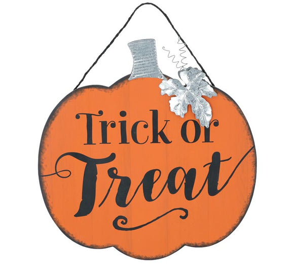 Reversible Trick Or Treat Sign
