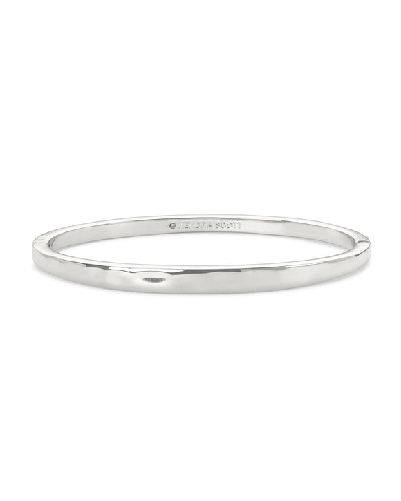 Zorte Bangle Bracelet Rhodium Metal