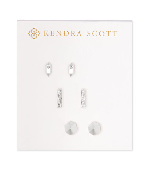 Austin Stud Earring Set in Silver
