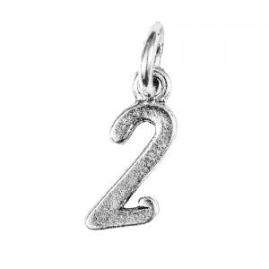 Number Charms - Silver