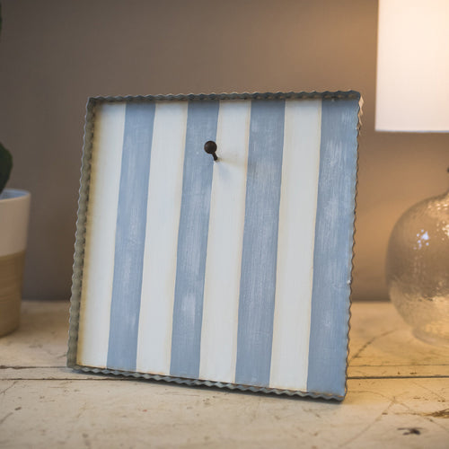 Grey And White Striped Display Board