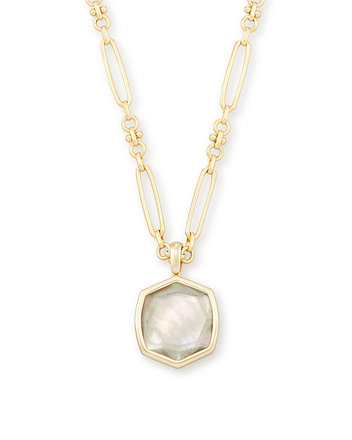 Gold Davis Necklace In Gray Illusion