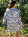 Fierce Fashion Dress In Heather Grey