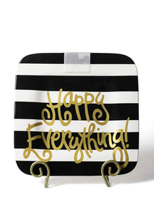 Black Stripe Happy Everything Mini Platter