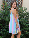 Happy Rainbow Swing Dress