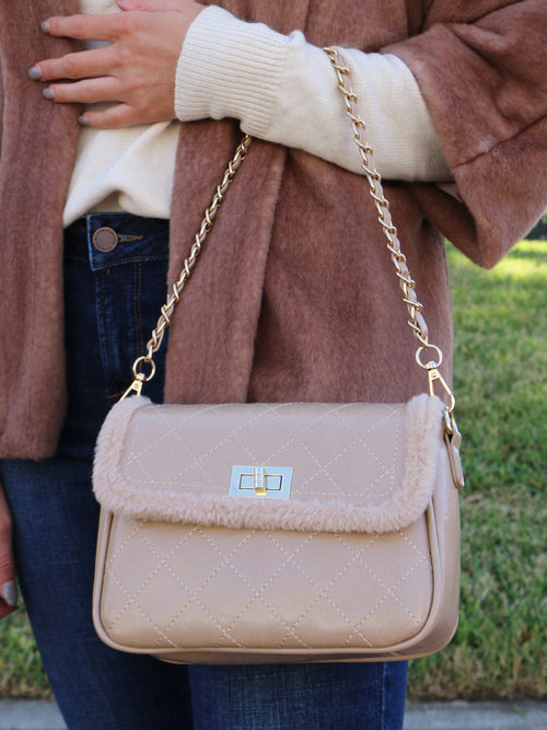 The Harper Handbag in Beige