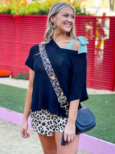 Switch it Up Purse Strap in Brown Leopard