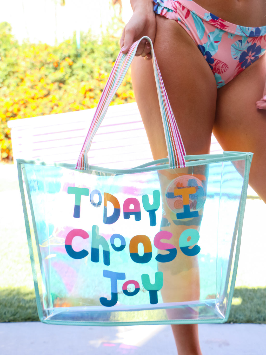 Today I Choose Joy Iridescent Tote