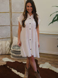 Kick The Dust Up Button Down Dress