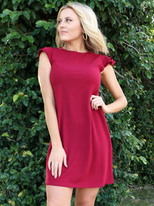 It Is Your Moment Dress in Wine