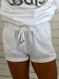 Linen Summer Shorts in White