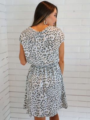 Living On the Edge Leopard Dress